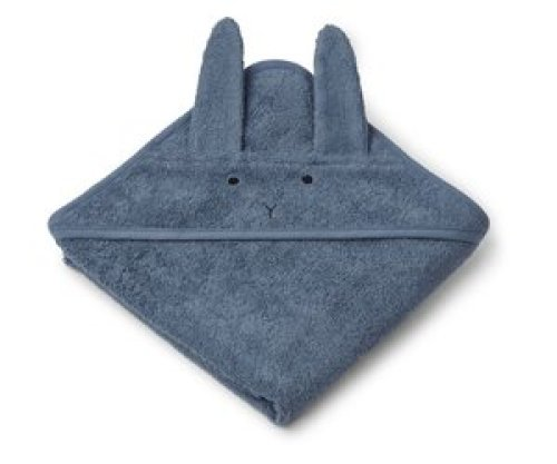Liewood Handdoek Albert 70x70 Rabbit Blue wave