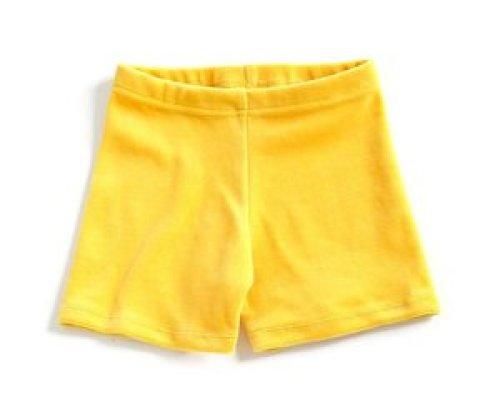 mundo melocotón Short Velvet Yellow