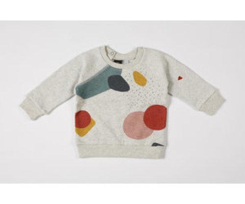 mundo melocotón Sweater organic sweater multicolor