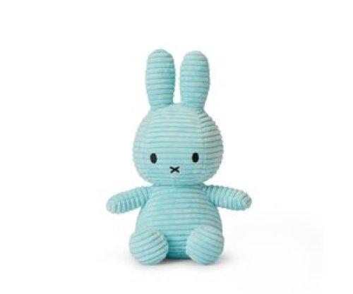 Nijntje Miffy Sitting Corduroy Turquoise - 23cm