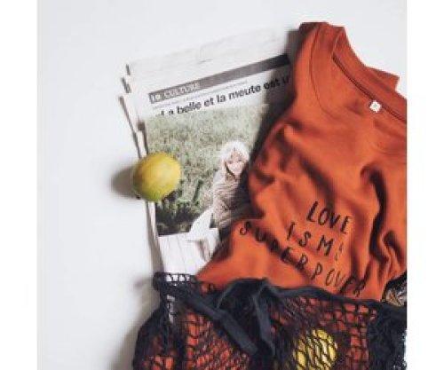 Organic Zoo Rust sweatshirt mama Love