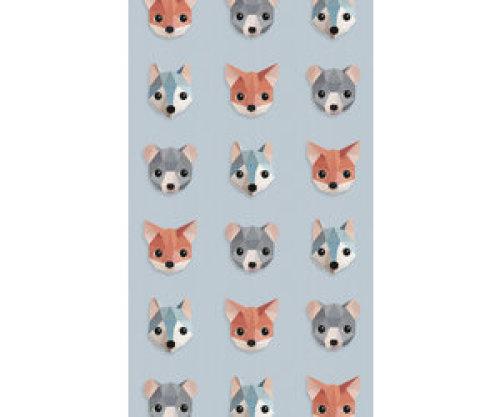 Studio Ditte Behang bosdieren ijsblauw