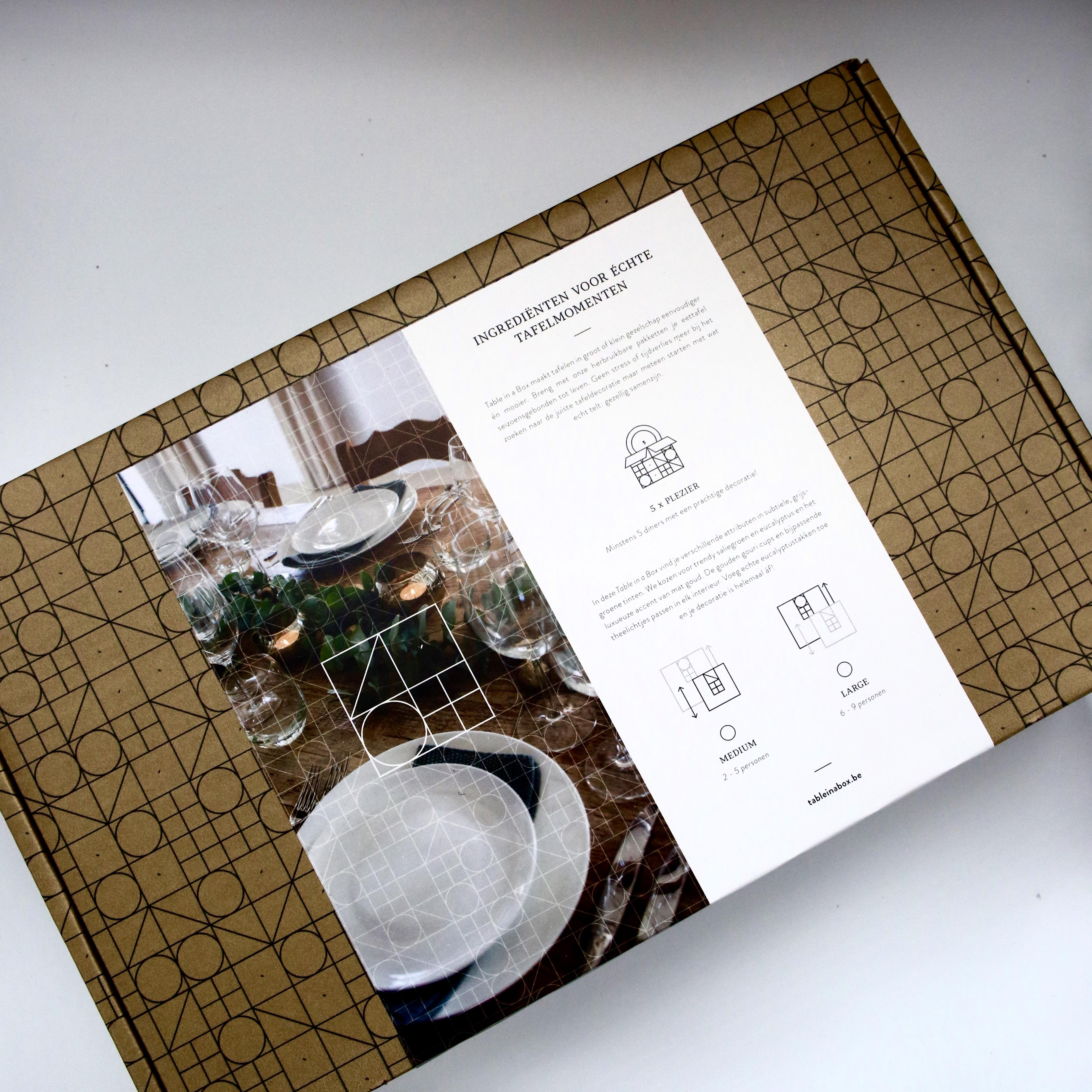 Originele tafelversiering voor elk interieur - Table in a Box