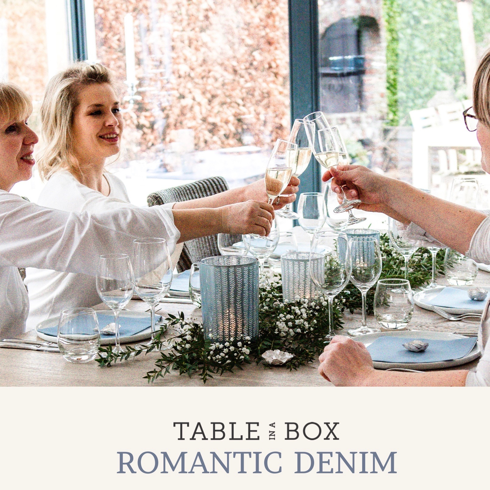 Table in a Box  | Casual of classy tafelversiering - een ode aan de jeans — Table in a Box