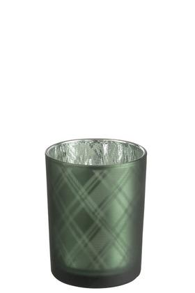 Theelicht - Green Tartan H13