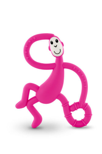 Bijtspeeltje dansend aapje roze