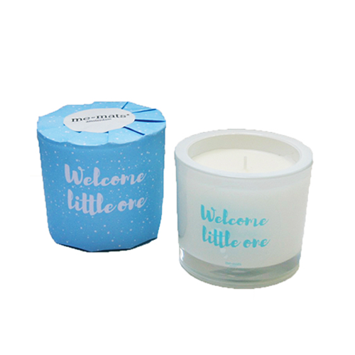 Geurkaars 'Welcome little one' Blauw