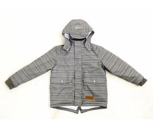 Fijn gestreepte winterjas | 100% gerecycleerde materialen