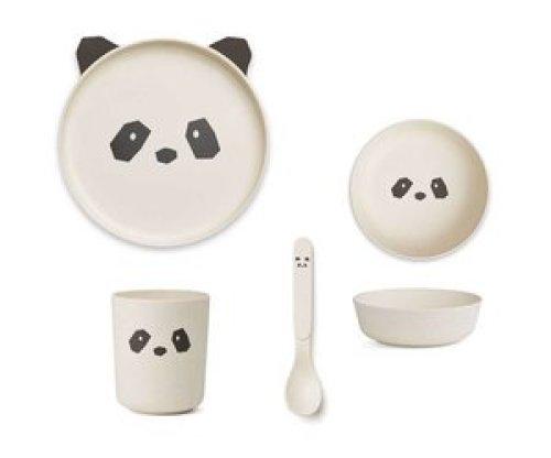 Bamboe Eetset | Crème de la crème | Panda