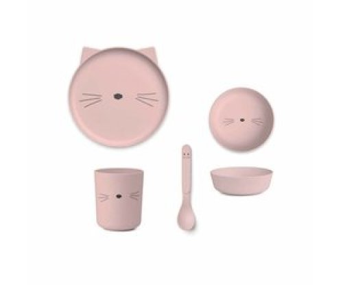 Bamboe Eetset | Rose | Cat