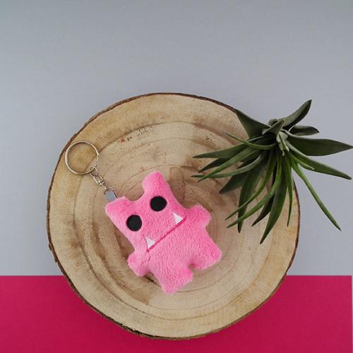 Monster sleutelhanger - candy pink