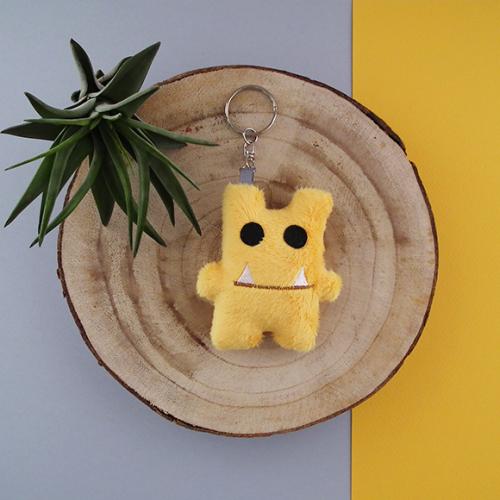 Monster sleutelhanger - geel