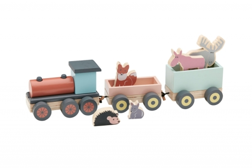 Kid's Concept - speeltrein met diertjes - Edvin