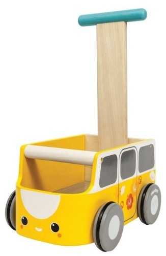 Plan Toys - Loopwagen geel