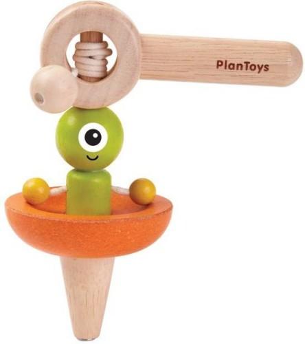 Plan Toys - Ruimteschip tol