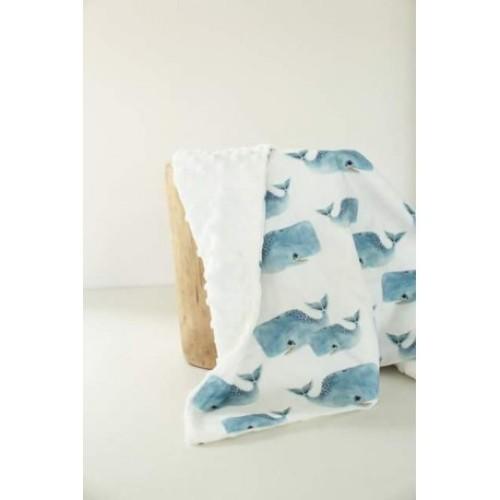 Baby dekentje met walvissen