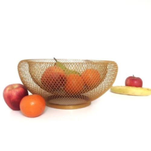 Fruitmand mat goud