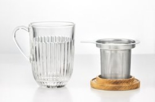 Quessant theeglas 40 cl incl. filter en deksel