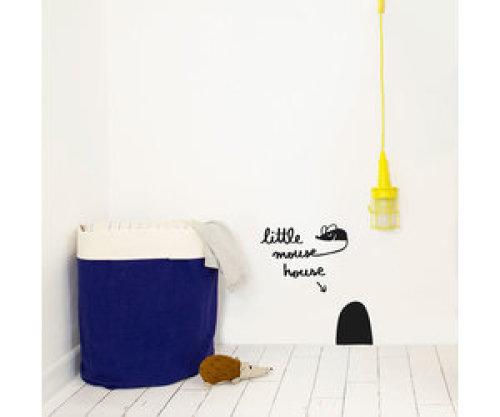 Muursticker Little Mouse House - Chispum