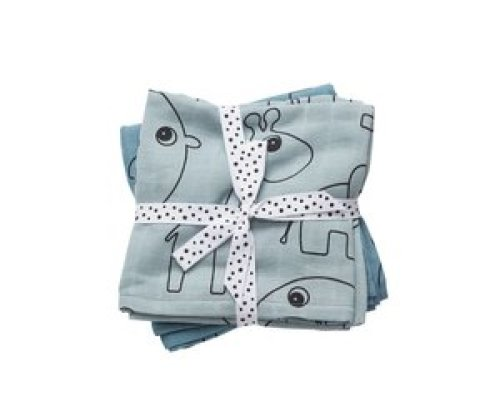Done by Deer swaddle (2-pak) - Contour Blauw 120x120