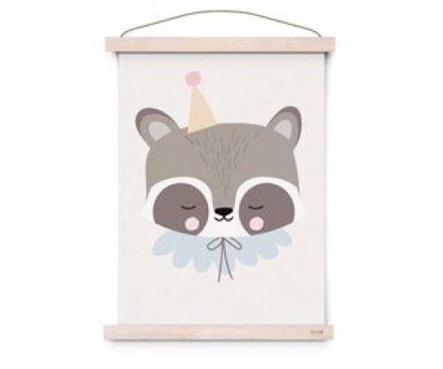 Eef Lillemor poster Circus Raccoon - A3