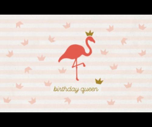 Kaartje Flamingo - verjaardag