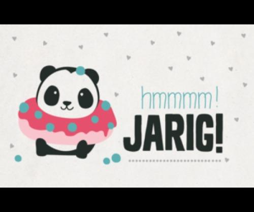 Kaartje Panda - verjaardag