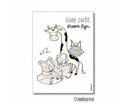 MIEKinvorm - Poster A3 Droom Zacht, Slaap Fijn