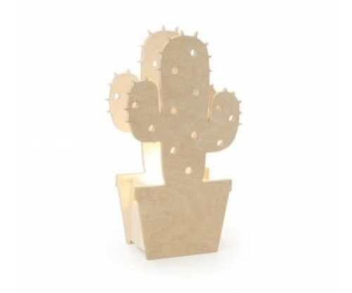 Houten Lamp Cactus - Miniwoo