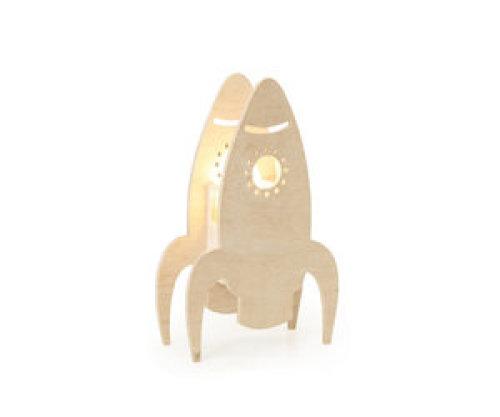 Houten Lamp Raket - Miniwoo
