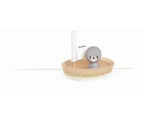 Plan Toys - Zeilboot Zeehond