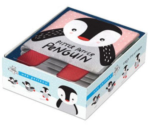 Zacht Babyboekje Pitter Patter Penguin - Wee Gallery