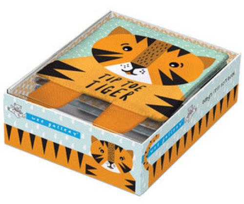 Zacht Babyboekje Tip Toe Tiger - Wee Gallery
