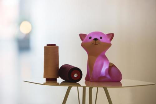 Leeslampje vosje - Cesar - roze