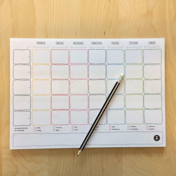 Weekplanner - Gezinnig