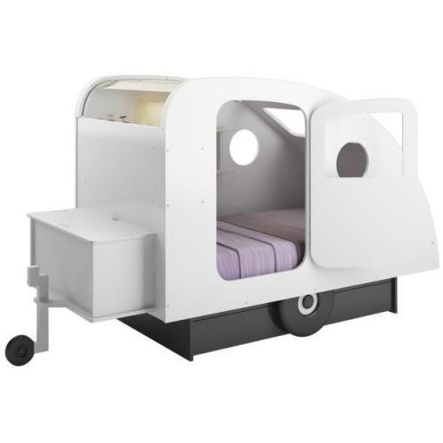 Bed / Caravanbed met opbergschuif