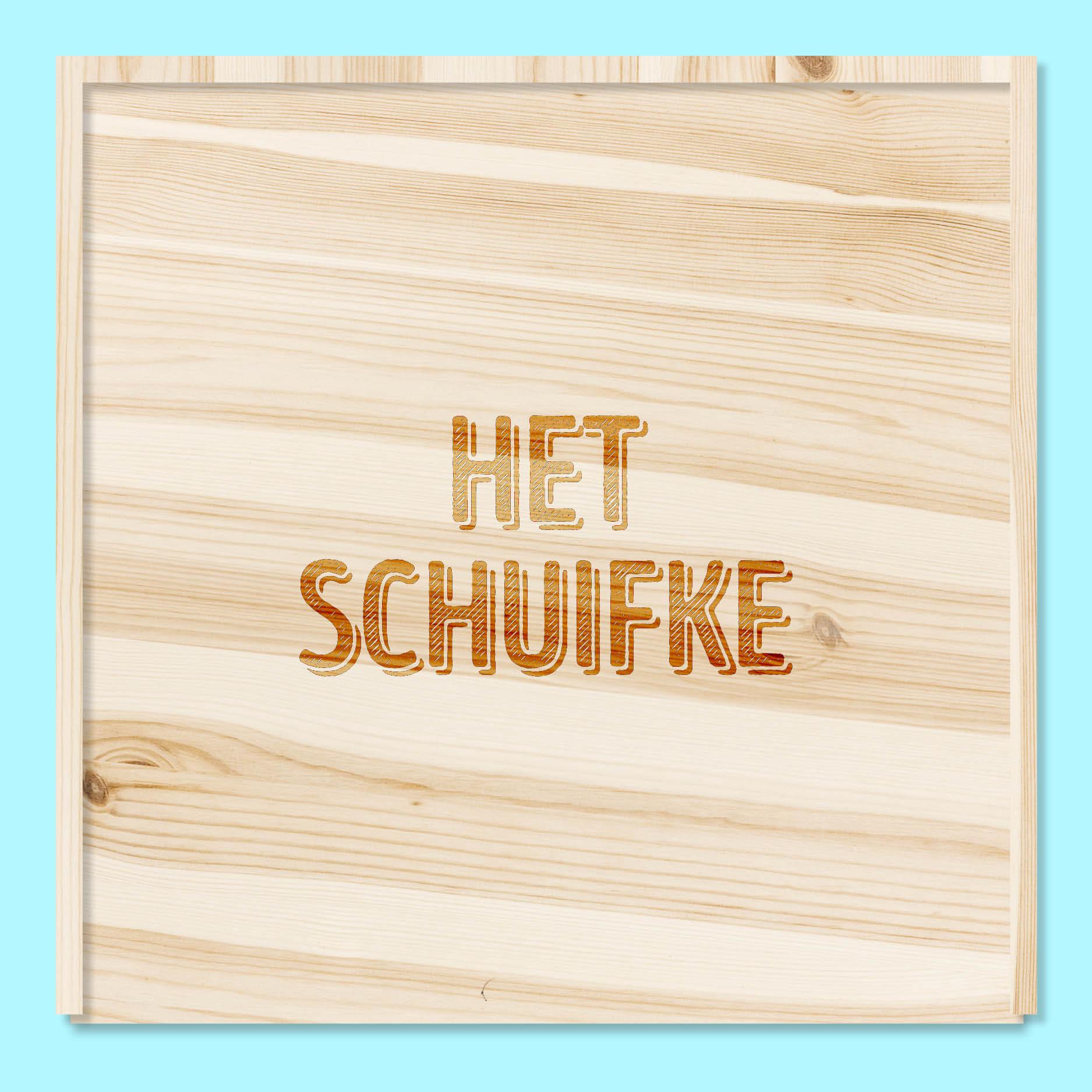 Het schuifke // houten doos