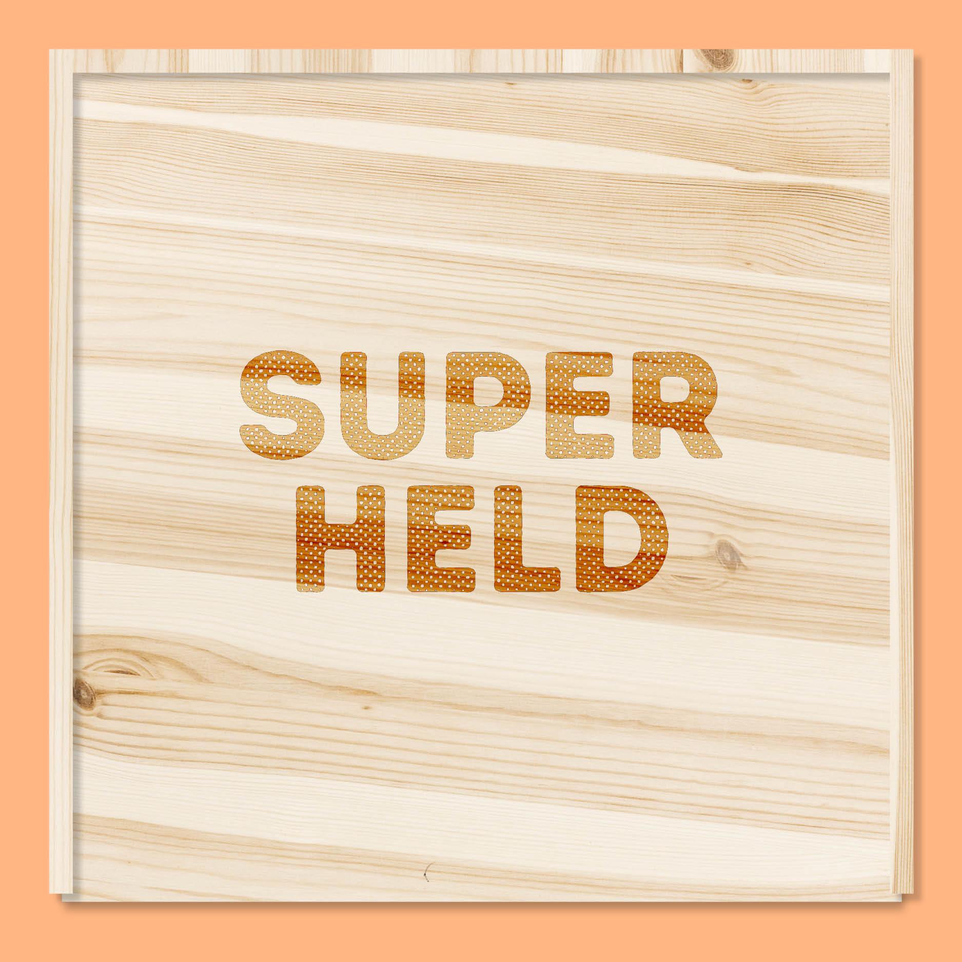 Superheld // houten doos