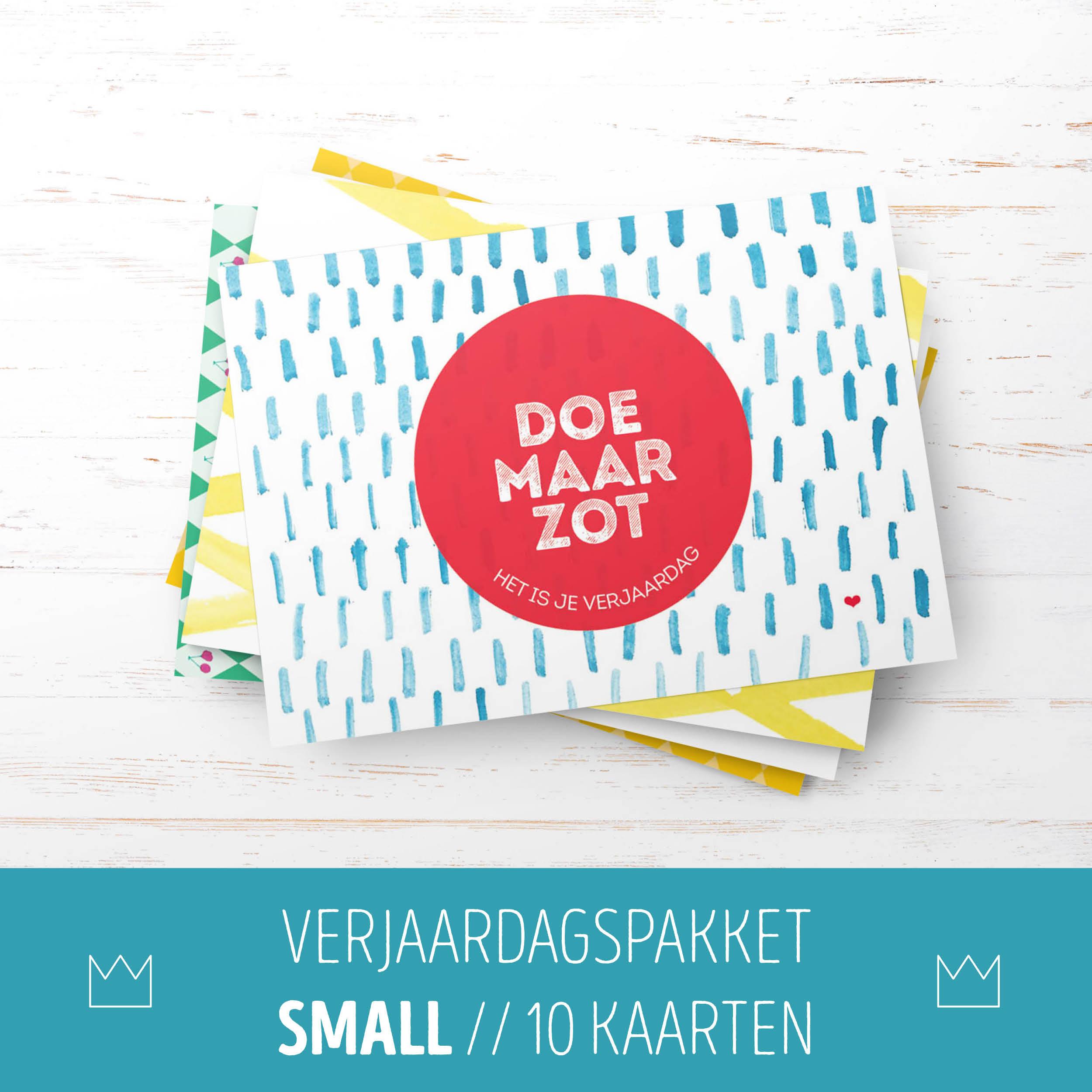 Verjaardagspakket Small // 10 kaarten
