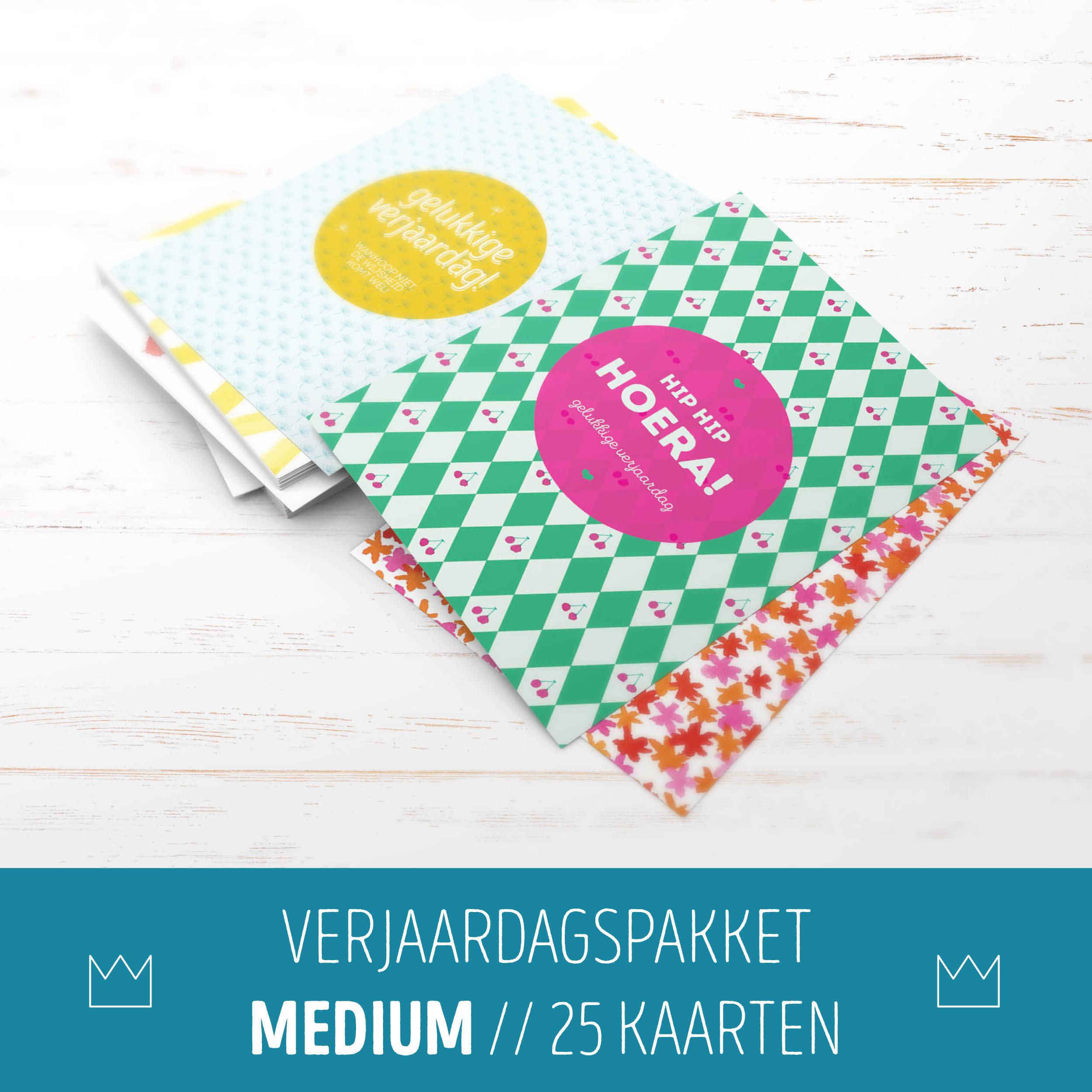 Verjaardagspakket Medium // 25 kaarten
