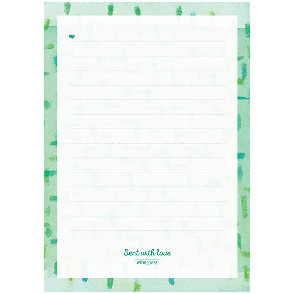 Handige notablok (groen)