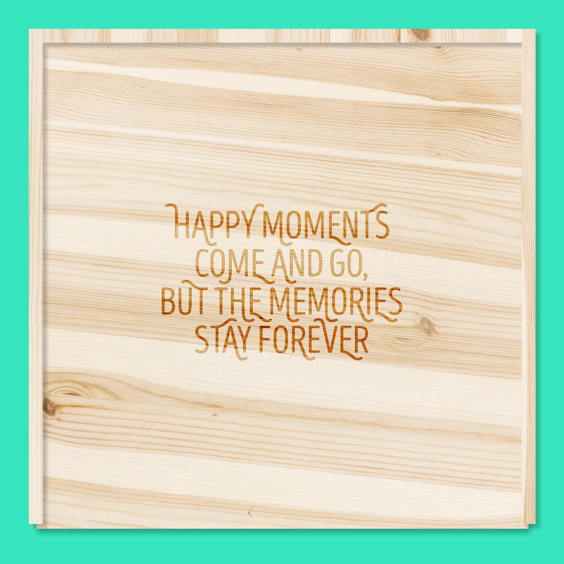 Happy moments // houten doos