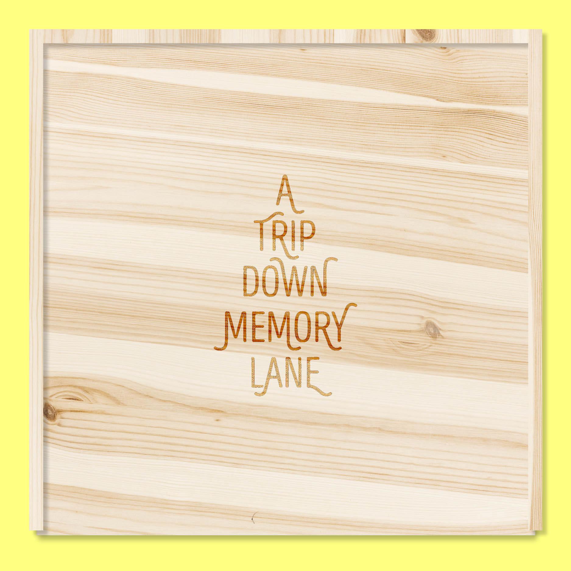 A trip down memory lane // houten doos