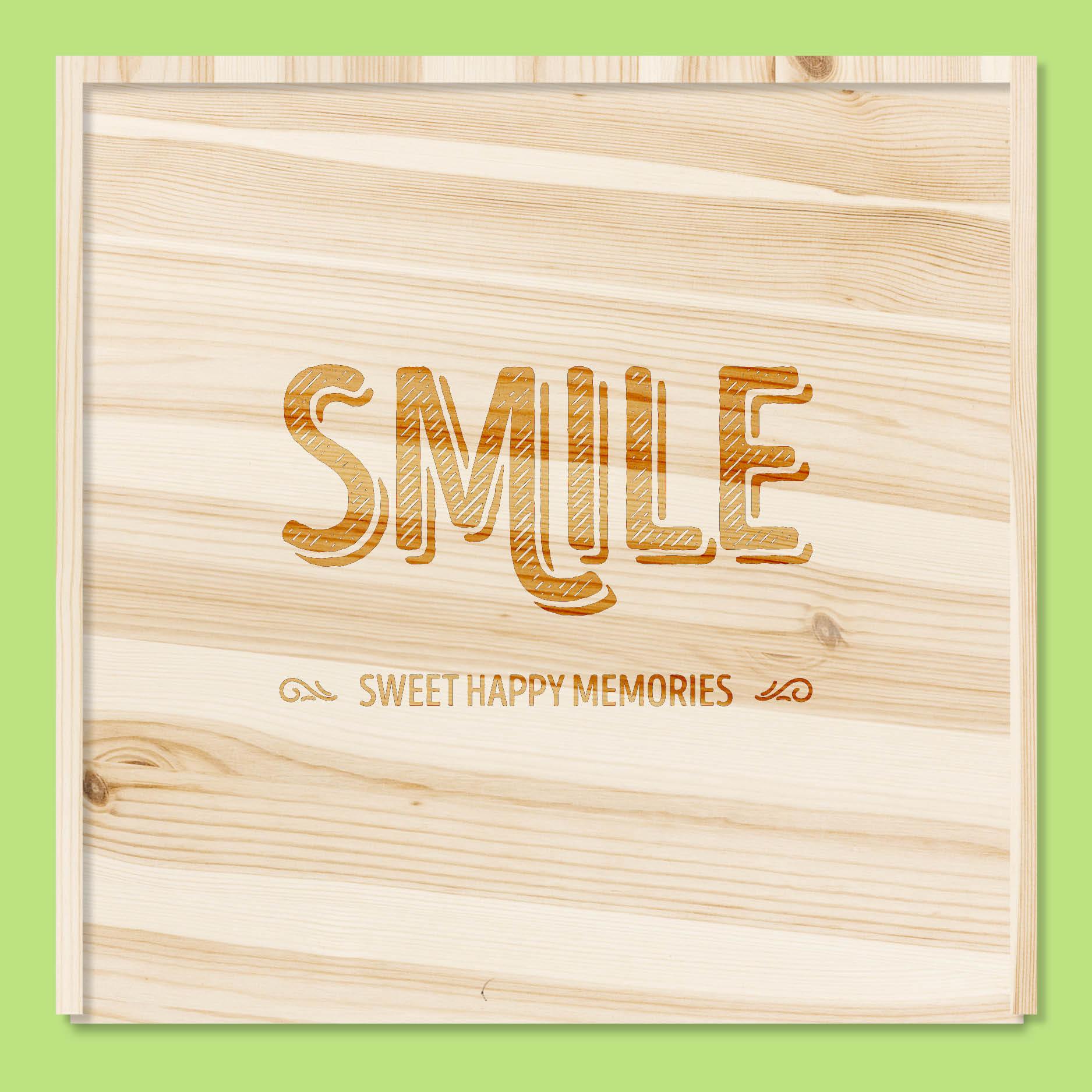 Smile sweet happy memories // houten doos