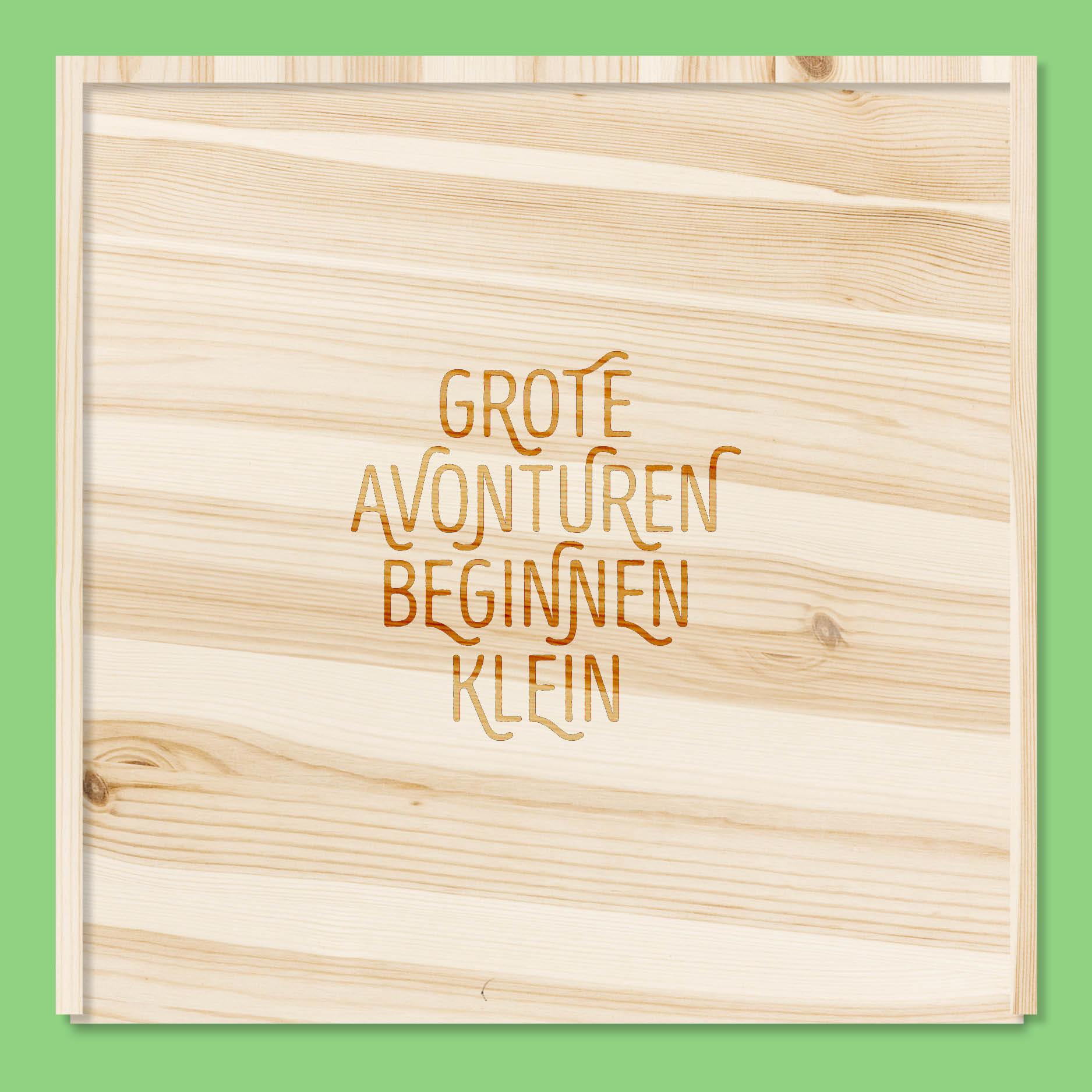 Grote avonturen beginnen klein // houten doos
