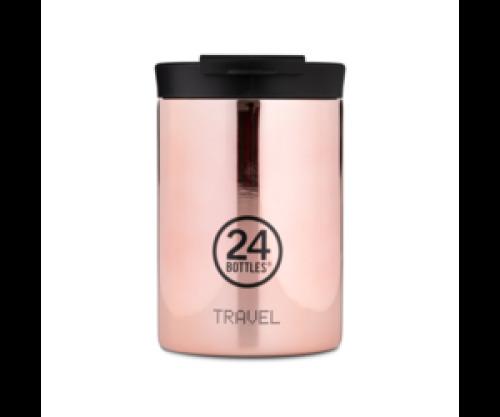 Travel tumbler koffiebeker - Rose gold 350 ml