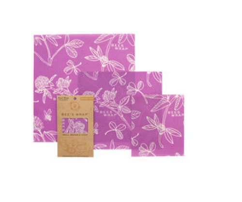 Bee's wrap - Assorted Mimi's purple (set of 3)