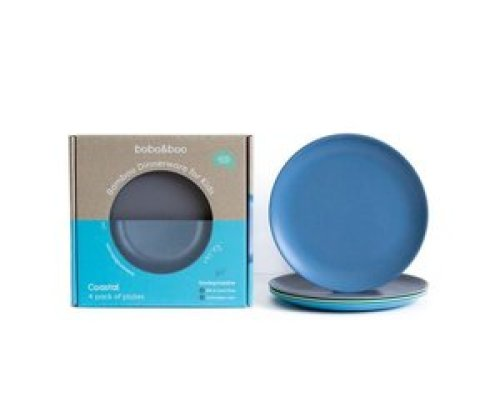 Bamboe borden set - Coastal blue