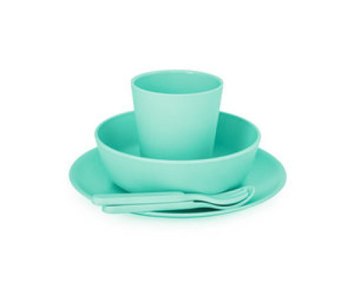 Bamboe dinner set - Mint green