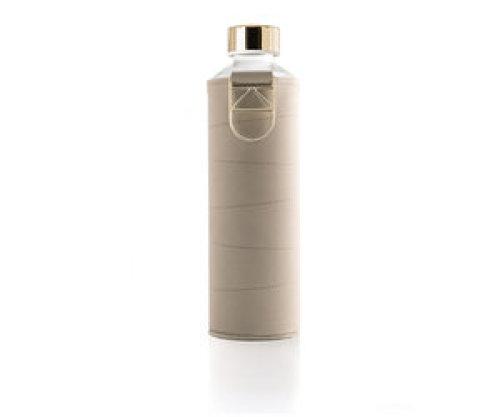 Glazen drinkfles met cover - Beige 750 ml